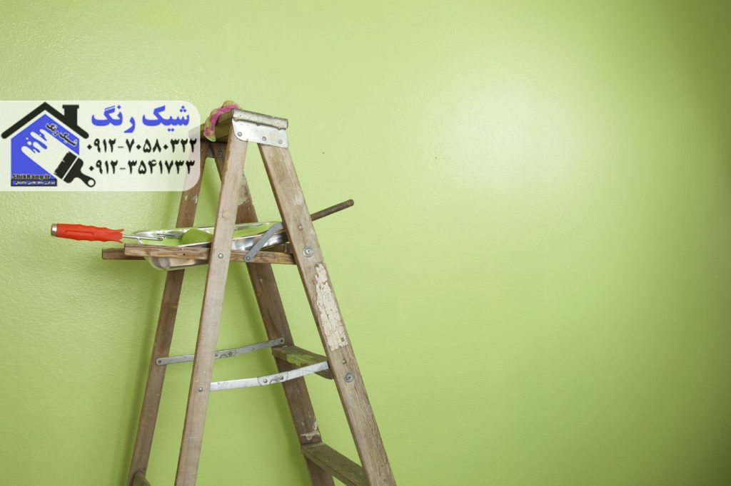 نقاشی ساختمان رنگ اکریلیک
