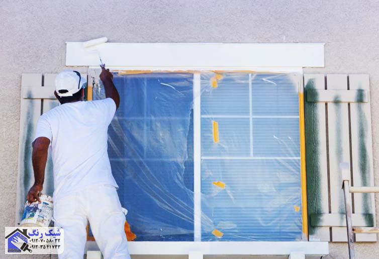 نقاش-نقاشی-ساختمان