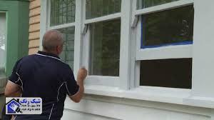 درب و پنجره فلزی رنگ