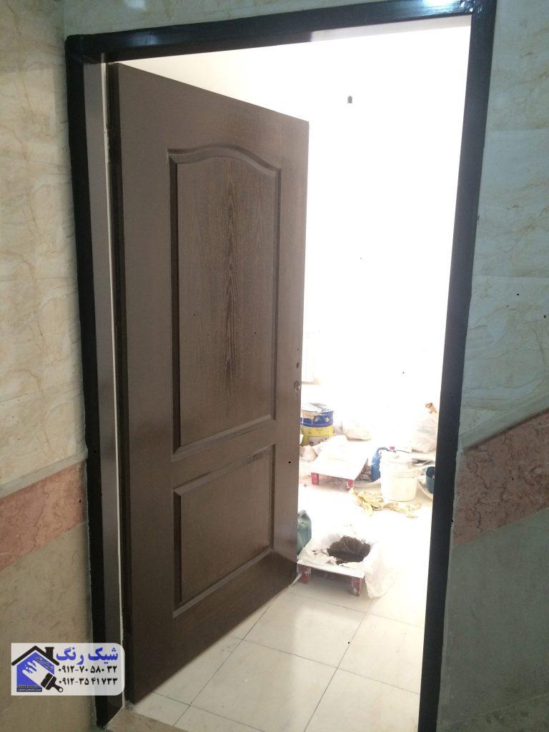 نمونه نقاشی درب چوبی